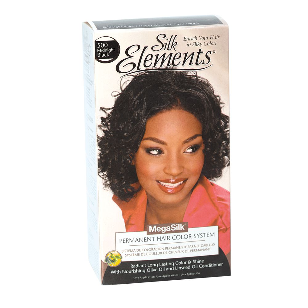 Silk Elements Midnight Black Permanent Hair Color By Megasilk
