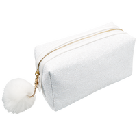 Glitter Pom Travel Bag Snowball White