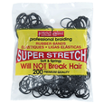 Rubber Bands Black 200 Count