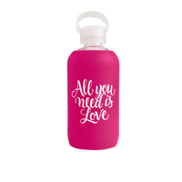 Pink Sleeve Glass Bottle