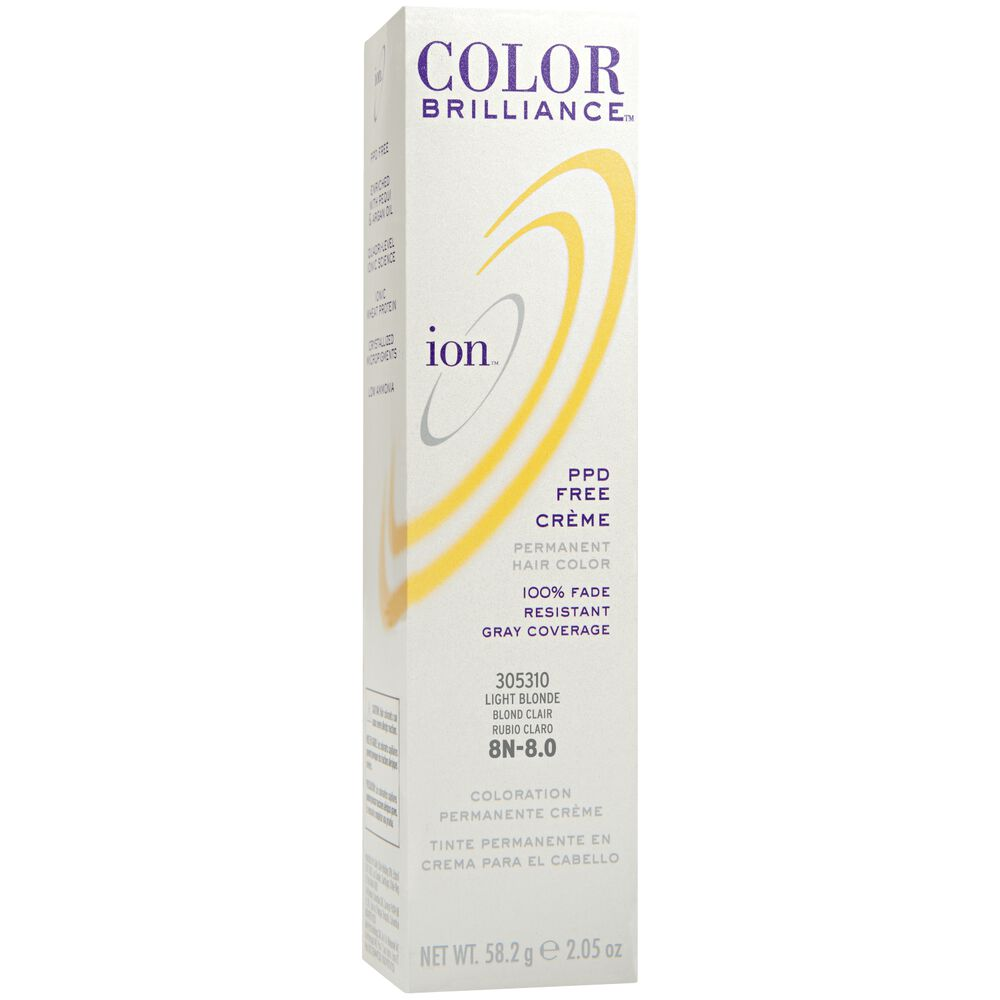 Ion 8n Light Blonde Permanent Creme Hair Color By Color Brilliance