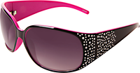Black & Pink Rhinestone Sunglasses