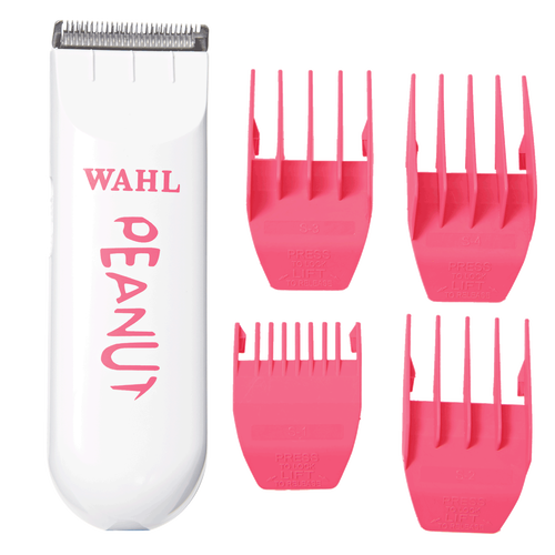 nullWhite Peanut with Pink Combs