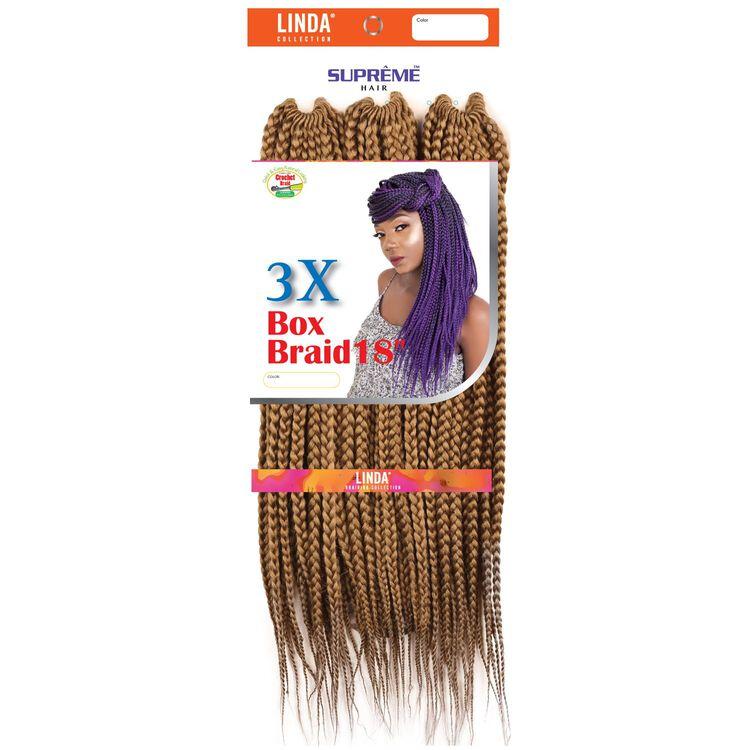 3X Box Braids 18 Inch Crochet Hair Strawberry Blonde