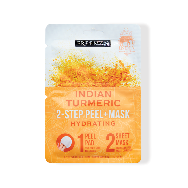 2-Step Peel Pad + Sheet Mask Indian Turmeric
