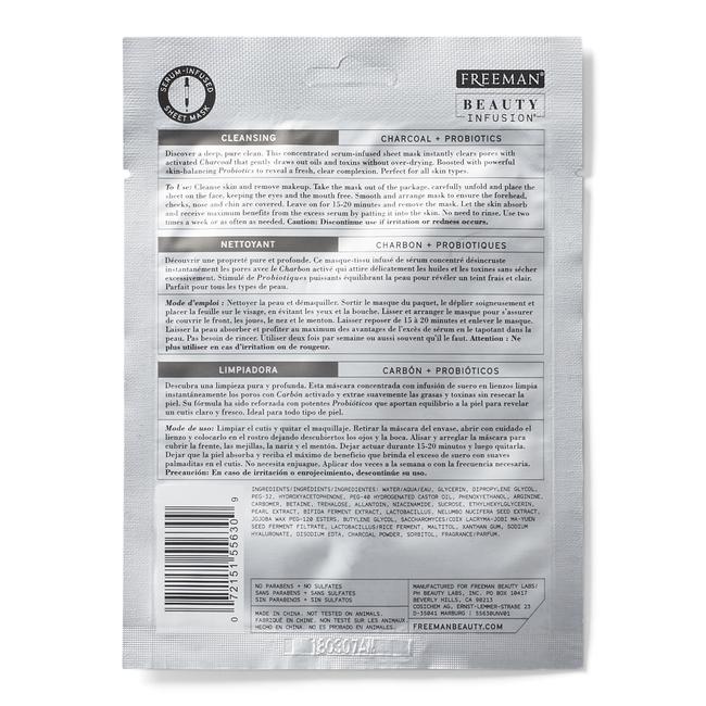 Cleansing Charcoal & Probiotics Sheet Mask
