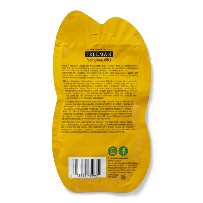 Manuka Honey & Tea Tree Oil Foaming Clay Mask