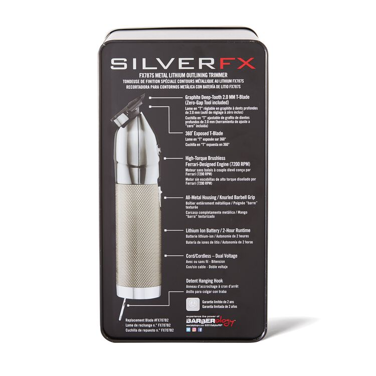 Silver Metal FX Trimmer Exposed T-Blade