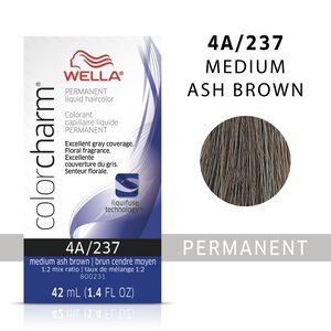 Medium Ash Brown Color Charm Liquid Permanent Hair Color
