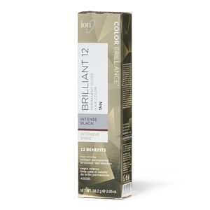Brilliant 12 Intense Neutrals 1NN Darkest Intense Black Permanent Crème Hair Color