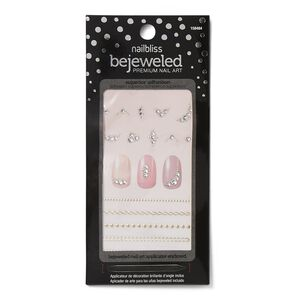 Chain Linked Bejeweled Nail Art