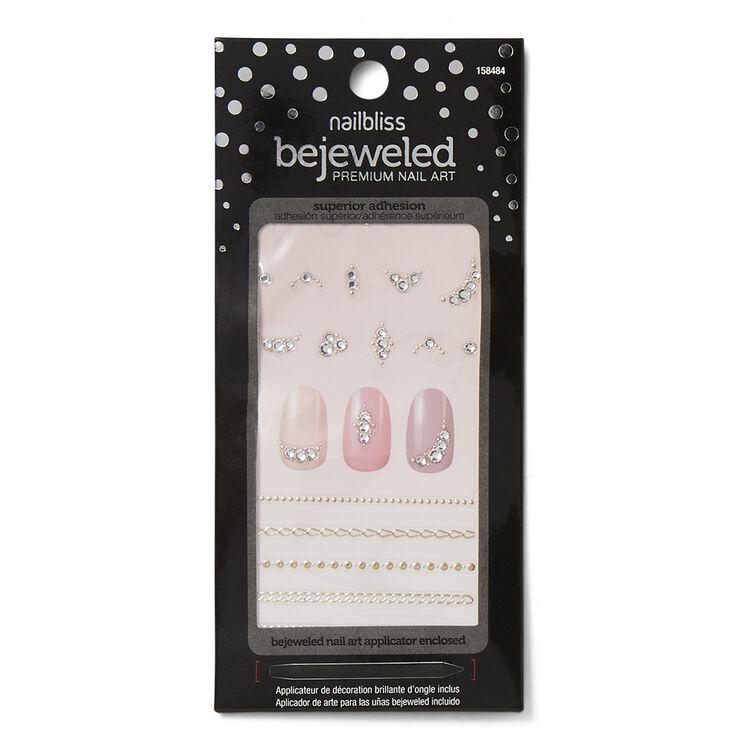 Chain Linked Bejeweled Nail Art