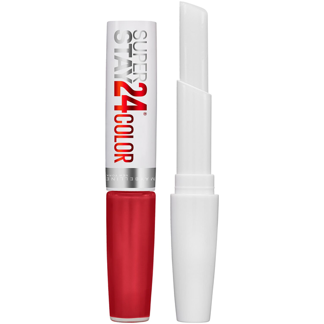 Super Stay 24 Hour 2 Step Liquid Lipstick Smile Brightener Optic Ruby