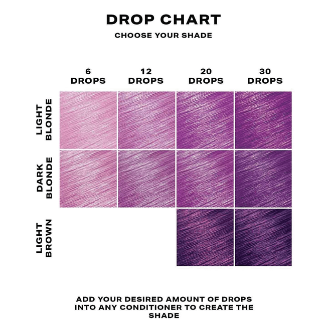 Purple Semi-Permanent Hair Dye Drops