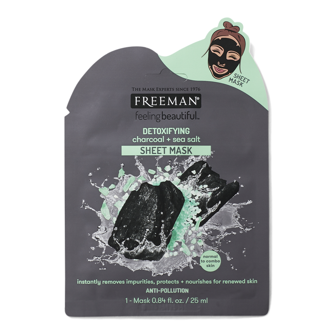 Detoxifying Charcoal & Sea Salt Sheet Mask