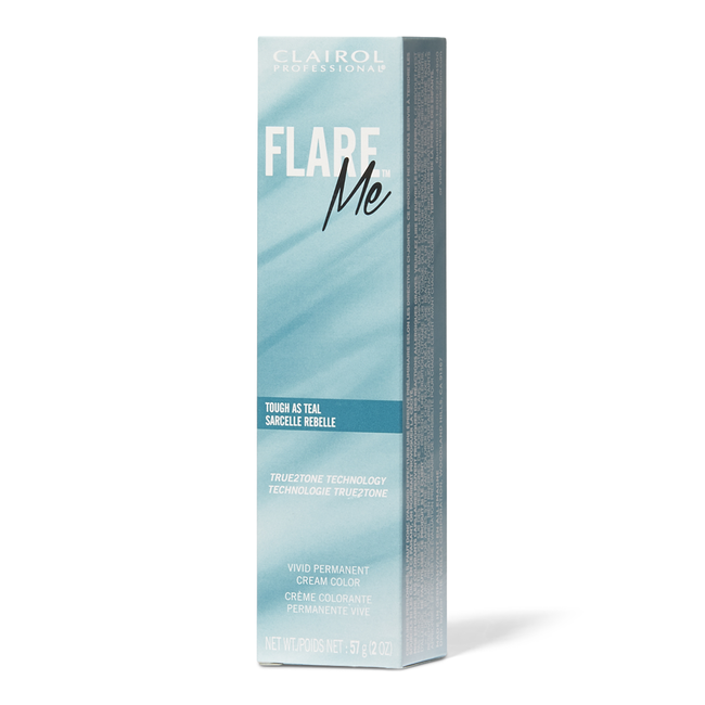 FLARE ME Light Permanent Cream Hair Color Tough as Teal