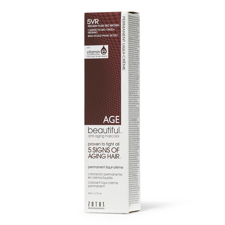5RV Medium Plum Red Brown Permanent Liqui-Creme Hair Color