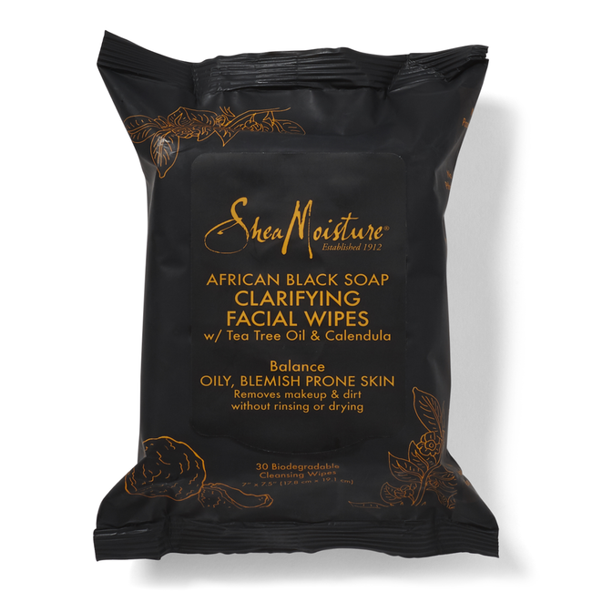 African Black Soap Facial Cleansing Wipes 30ct