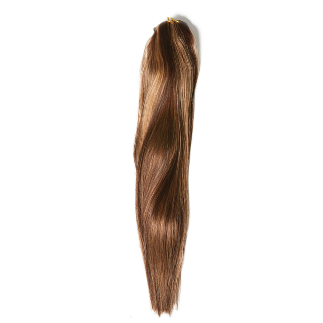 """20"""" Ultra-Seamless Clip-In Hair Extensions Caramel Frost"""