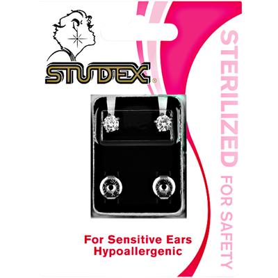 Cubic Zirconia Stainless Steel Piercing Earrings