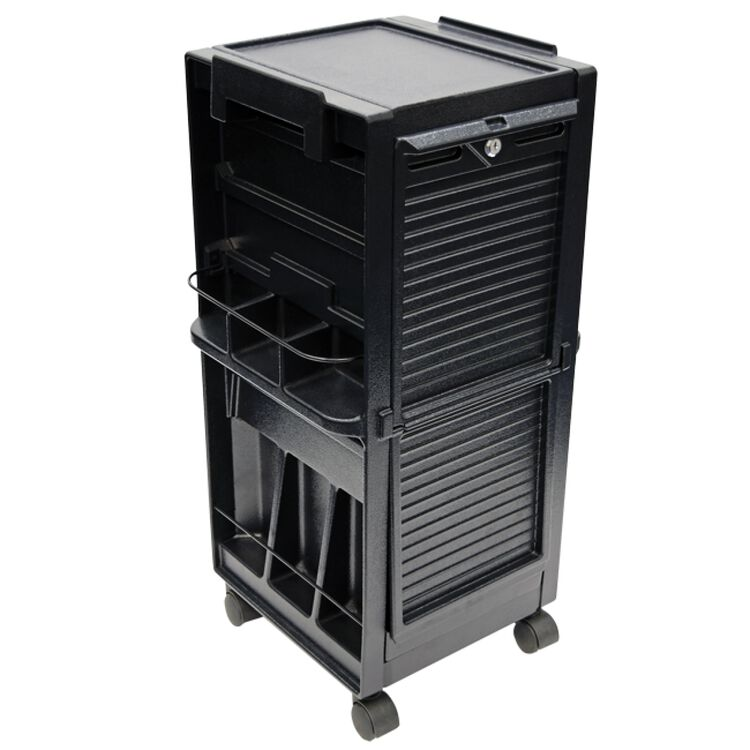Salon Trolley with Lockable Doors