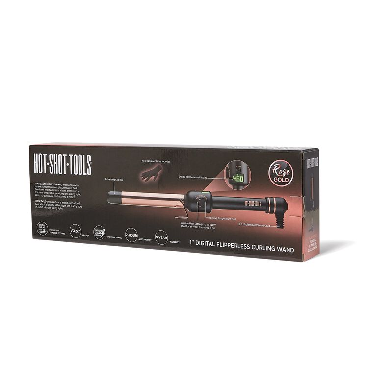 Rose Gold 1 Inch Clipless Curling Wand