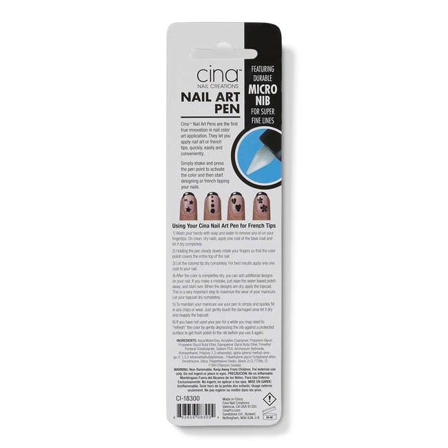Black Nail Art Pen