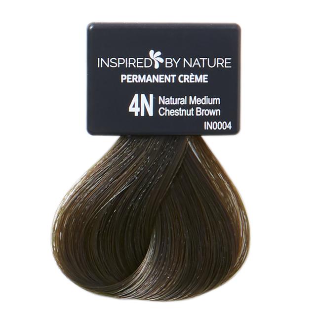 Ammonia-Free Permanent Hair Color Natural Medium Chestnut Brown 4N