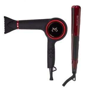 Tool Science Moisture Balance Digital Pistol Dryer and Tourmaline Ceramic Styling Iron Black Friday Bundle