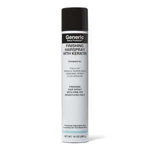 Finishing Hairspray with Keratin Compare to It's a 10 Miracle Super Hold Finishing Spray Plus Keratin
