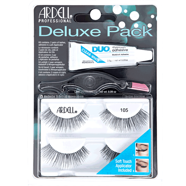 17fcbb414b2 Deluxe Twin Pack Natural #105 Black Lashes by Ardell | Eyelash ...