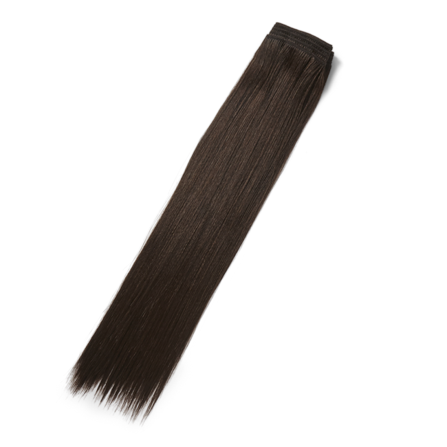 Brown 18 Inch Human & Premium Blend Hair