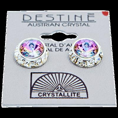 Destine Rhinestone Rivoli Earrings