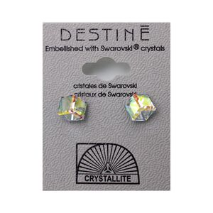 Destine Earring AB Tilted Cube 6mm