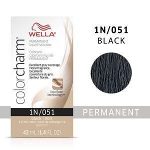 Black Color Charm Liquid Permanent Hair Color