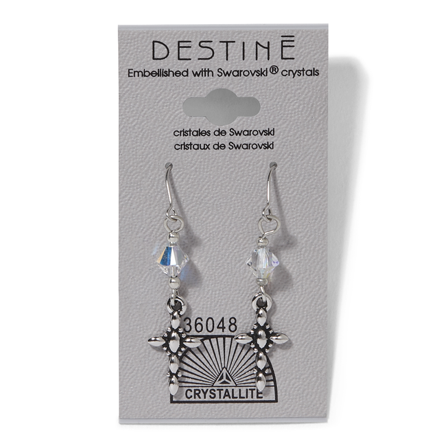 Destine Cross Dangle Earrings