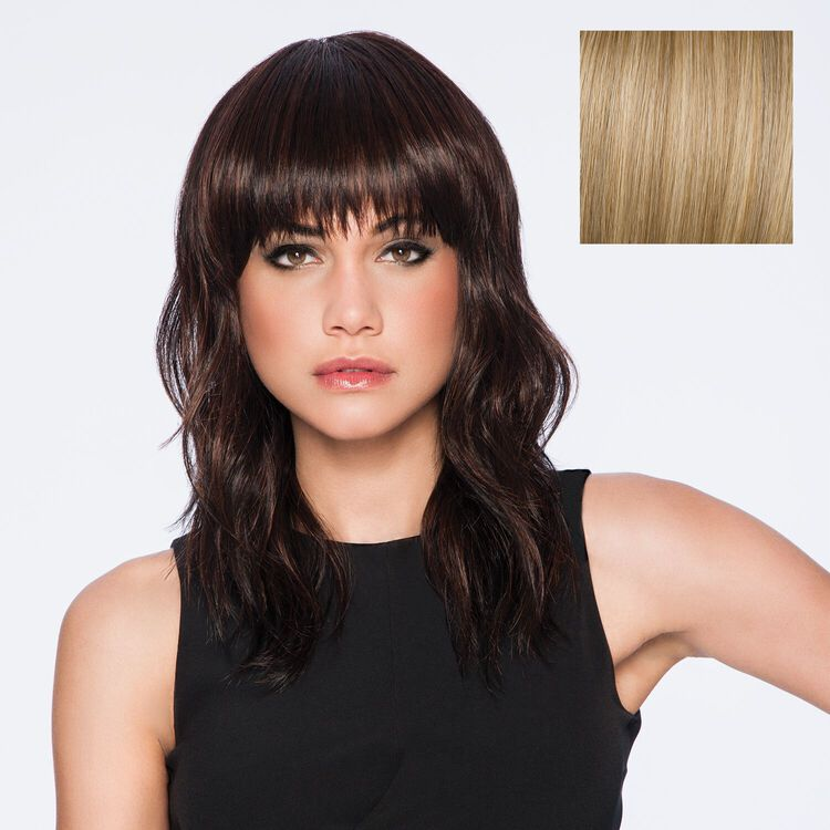 Wave Cut Wig Rooted Golden Wheat