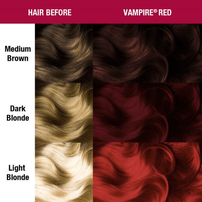Vampire Red Semi Permanent Cream Hair Color