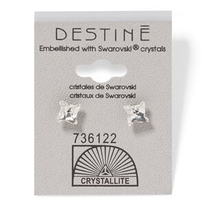 Destine Clear Pinwheel Earrings