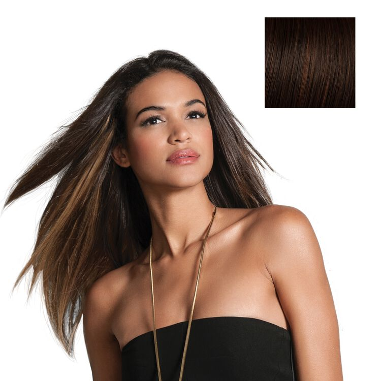 18 Inch Human Hair Highlight Extension Chocolate Copper
