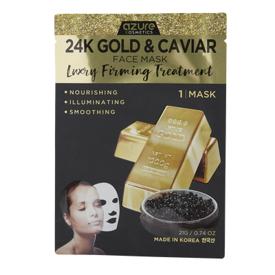 24K Gold & Caviar Sheet Mask