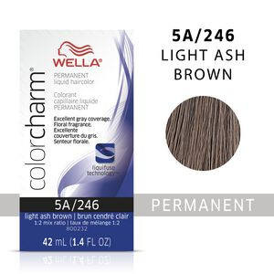 Light Ash Brown Color Charm Liquid Permanent Hair Color