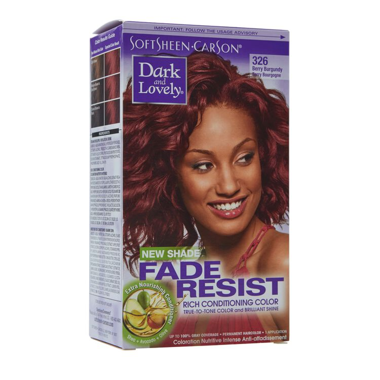 Fade Resistant Berry Burgandy Permanent Hair Color