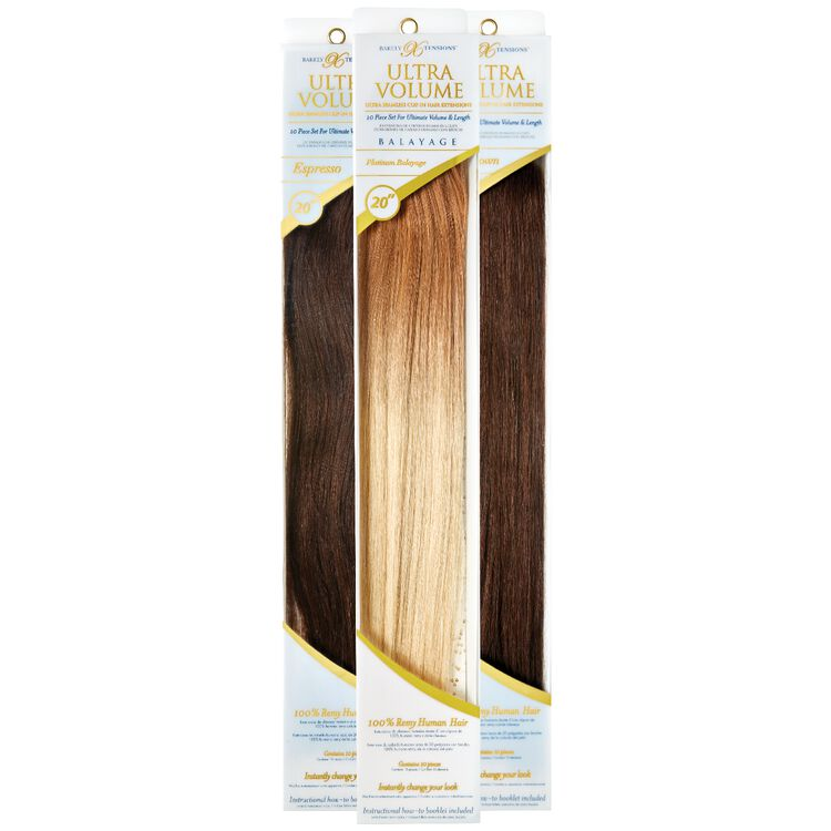 Barely Xtensions 20 Ultra Seamless Clip In Hair Extensions Human Hair Exntensions Sally Beauty