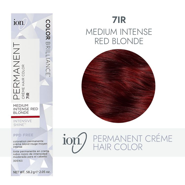 7IR Medium Intense Red Blonde Permanent Creme Hair Color
