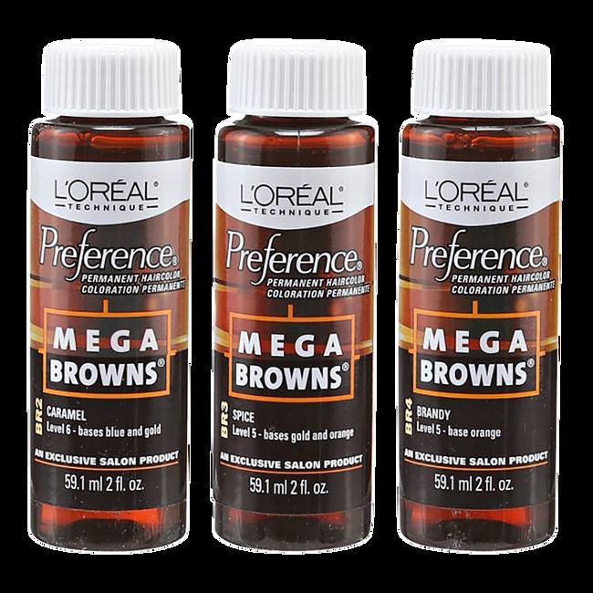 Mega Browns Permanent Hair Color