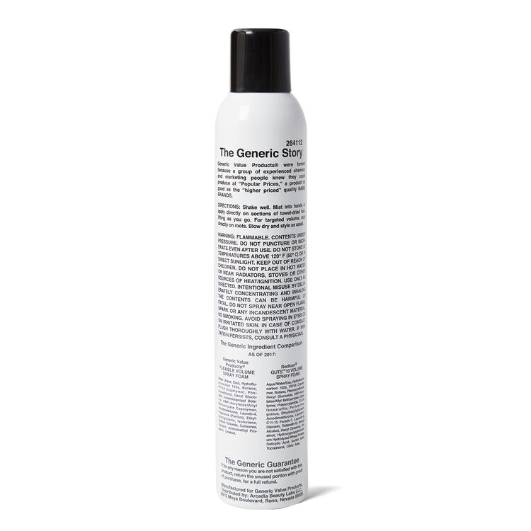 GVP Flexible Volume Spray Foam Compare to Redken Guts