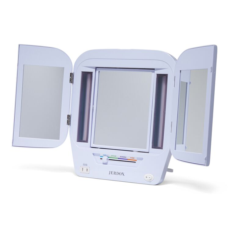Lighted Makeup Mirror.Deluxe Lighted Makeup Mirror
