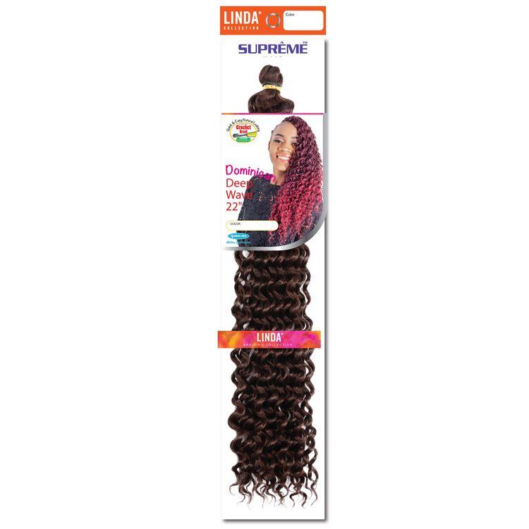 Dominican Wave 22 Inch Crochet Hair Dark Auburn