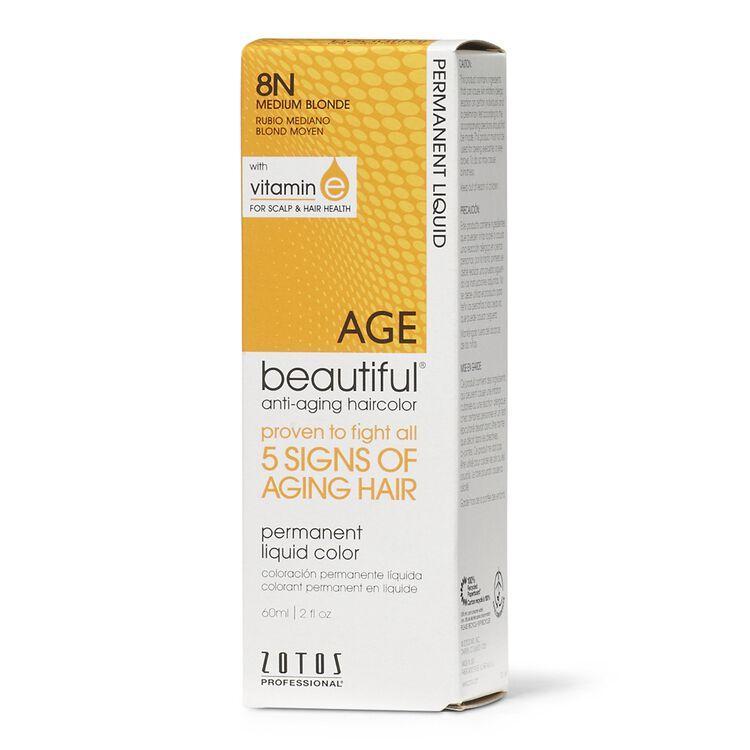 Anti-Aging 8N Medium Blonde Permanent Liquid Hair Color